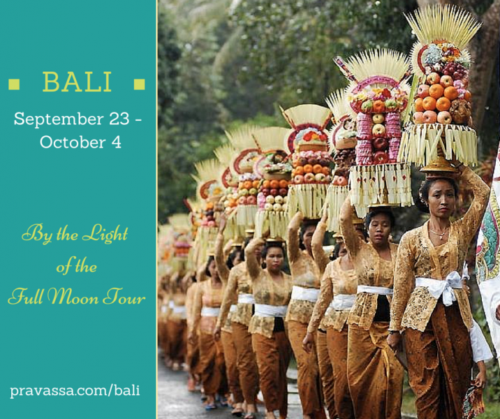 "Pravassa Presents: Bali ""By the Light of the Full Moon"" Yoga Tour"