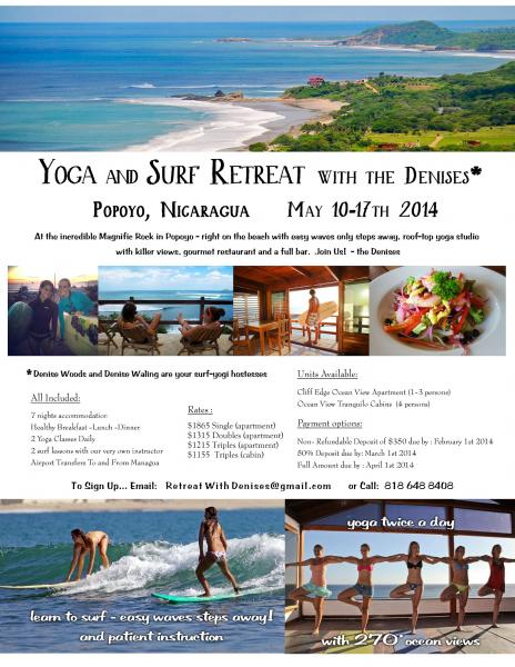Yoga Surf Retreat with the Denises* - Popoyo, Nicaragua