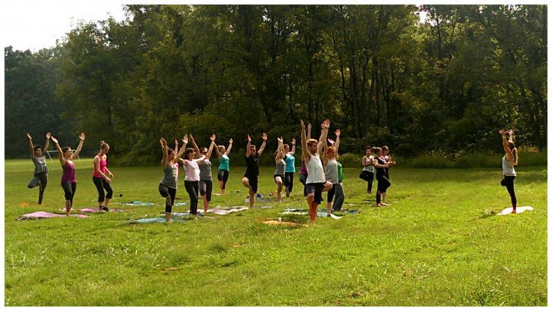 Yoga in the Park: Friends, Yoga, Vendors