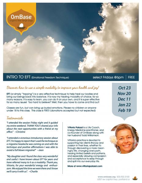 Intro to EFT/ Monthly on 3rd Fri each month -