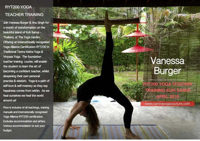 Tantra Vinyasa Yoga Teacher Training - Koh Samui, Thailand RYT200