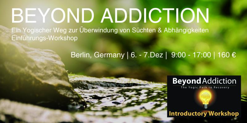 BEYOND ADDICTION WORKSHOP with Paramjot from Belgium