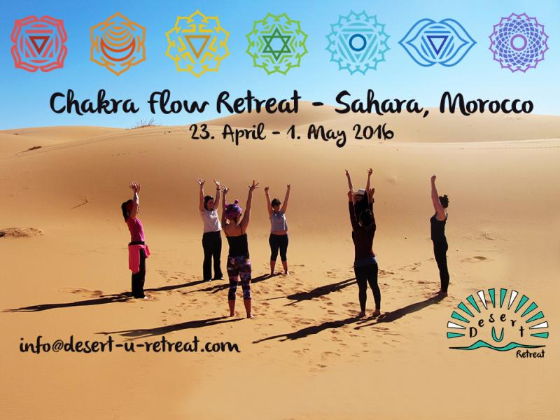 Chakra Flow Retreat - Sahara Desert - Morocco - April 2016