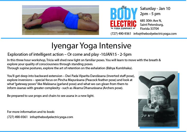 Iyengar Yoga Intensive - The Body Electric Yoga Company