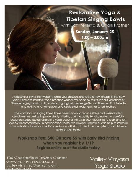 Restorative Yoga with Singing Bowls & Gongs w/ Pati Pellerito & Charli Prather