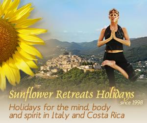 Sunflower Retreats Yoga holidays & retreats in Italy & Costa rica