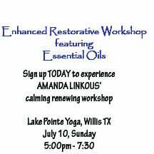 WORKSHOP:  Enhanced Restorative Experience with Essential Oils