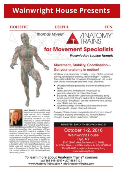 Anatomy Trains For Movement Specialists Presented By Laurice Nemetz