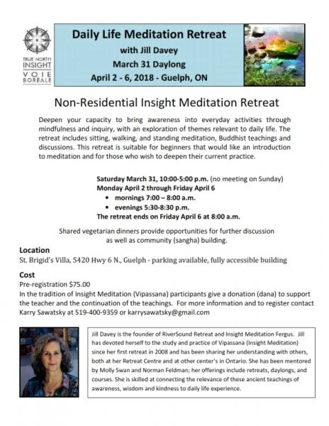 Daily Life Meditation Retreat (non-residential)