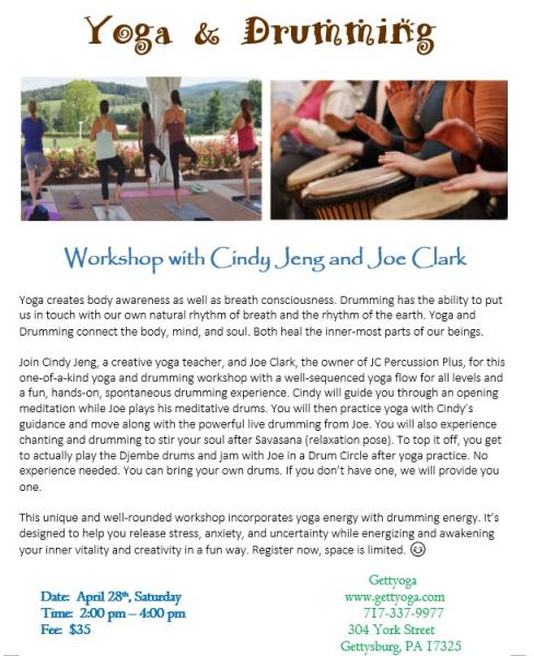 Yoga and Drumming