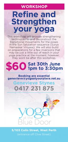 Refine and Strengthen Your Yoga 2.5hr Workshop