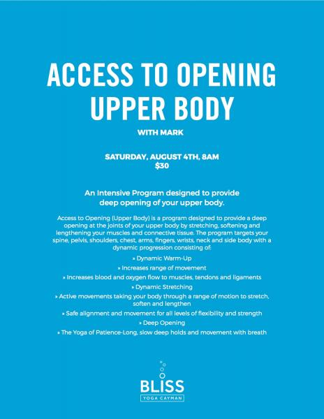 Access To Opening-Upper Body