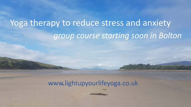 Yoga Therapy group course for stress and anxiety