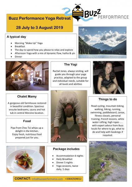 Buzz Performance Yoga Retreat, Morzine - France