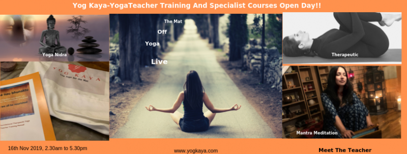 Yog Kaya - Teacher Training And specialist courses Open Day!!