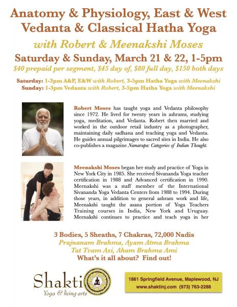 Anatomy & Physiology East & West, Vedanta and Hatha Yoga